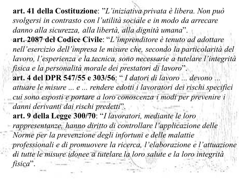 art. 41 della Costituzione: L'iniziativa privata è libera