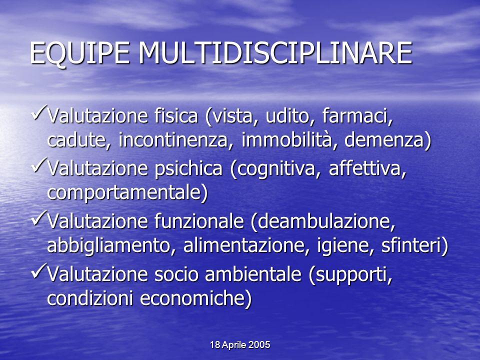 EQUIPE MULTIDISCIPLINARE