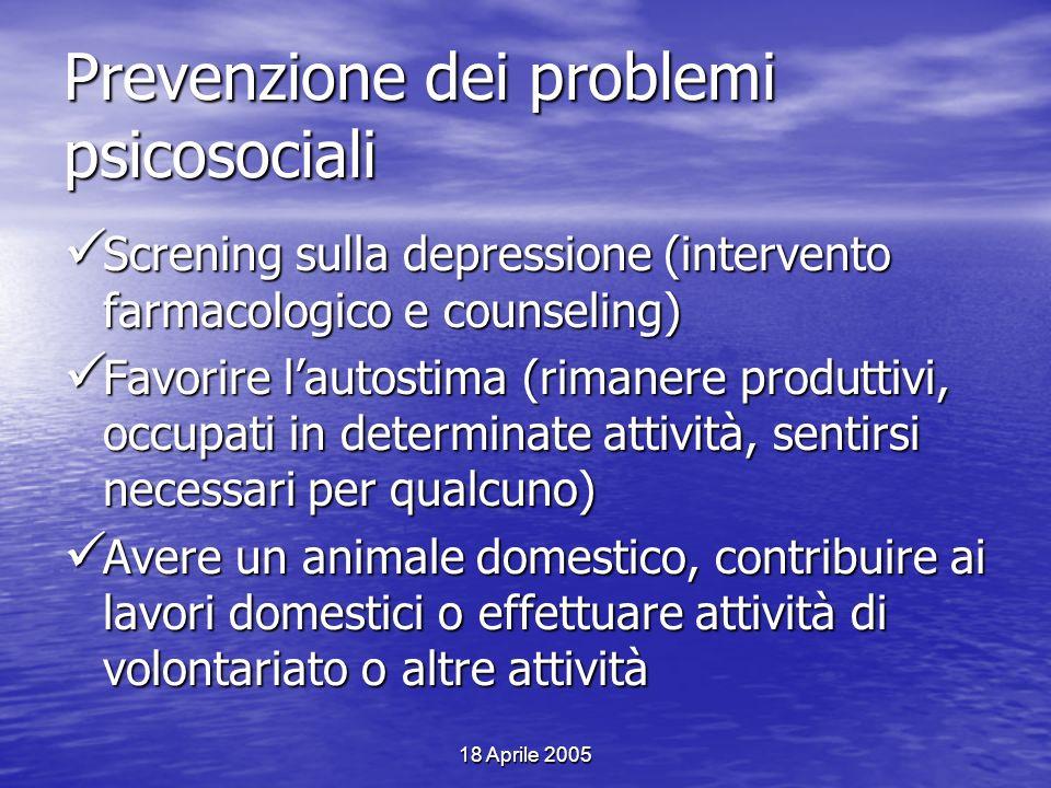 Prevenzione dei problemi psicosociali
