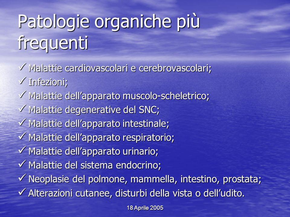 Patologie organiche più frequenti