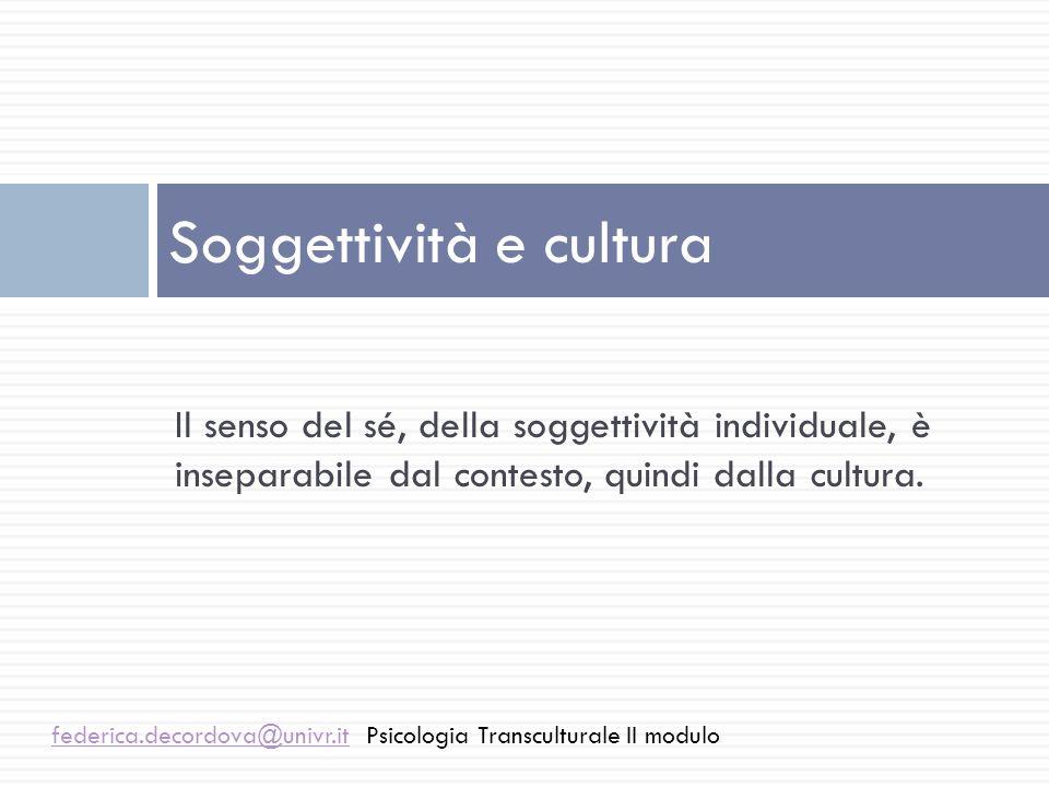 Soggettività e cultura