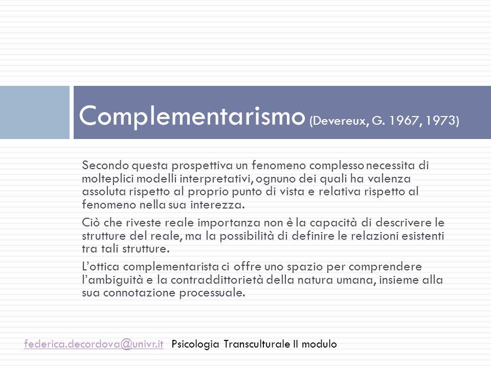 Complementarismo (Devereux, G. 1967, 1973)