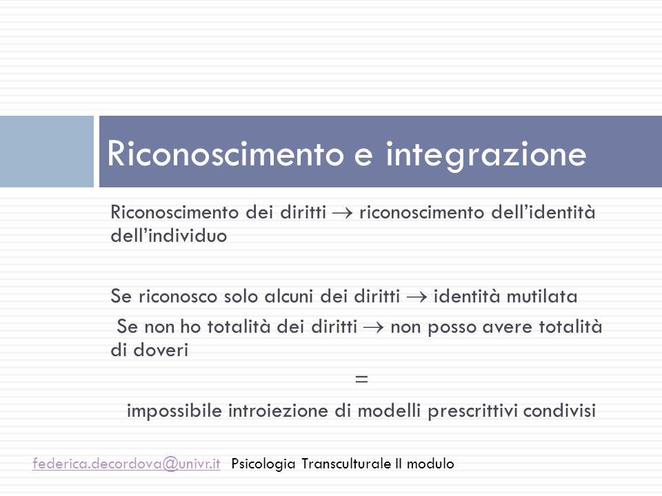 Riconoscimento e integrazione