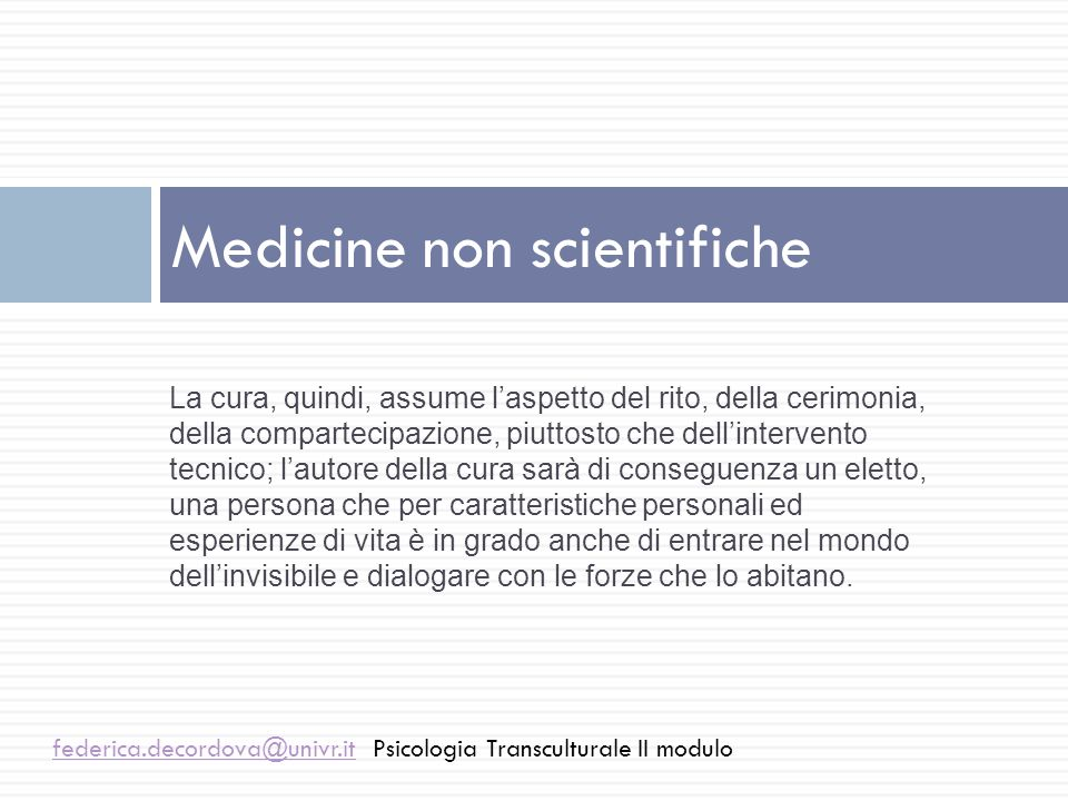 Medicine non scientifiche