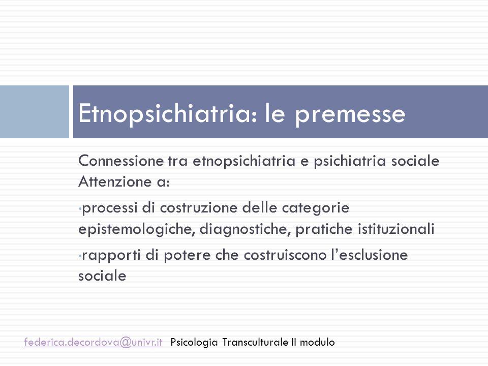 Etnopsichiatria: le premesse