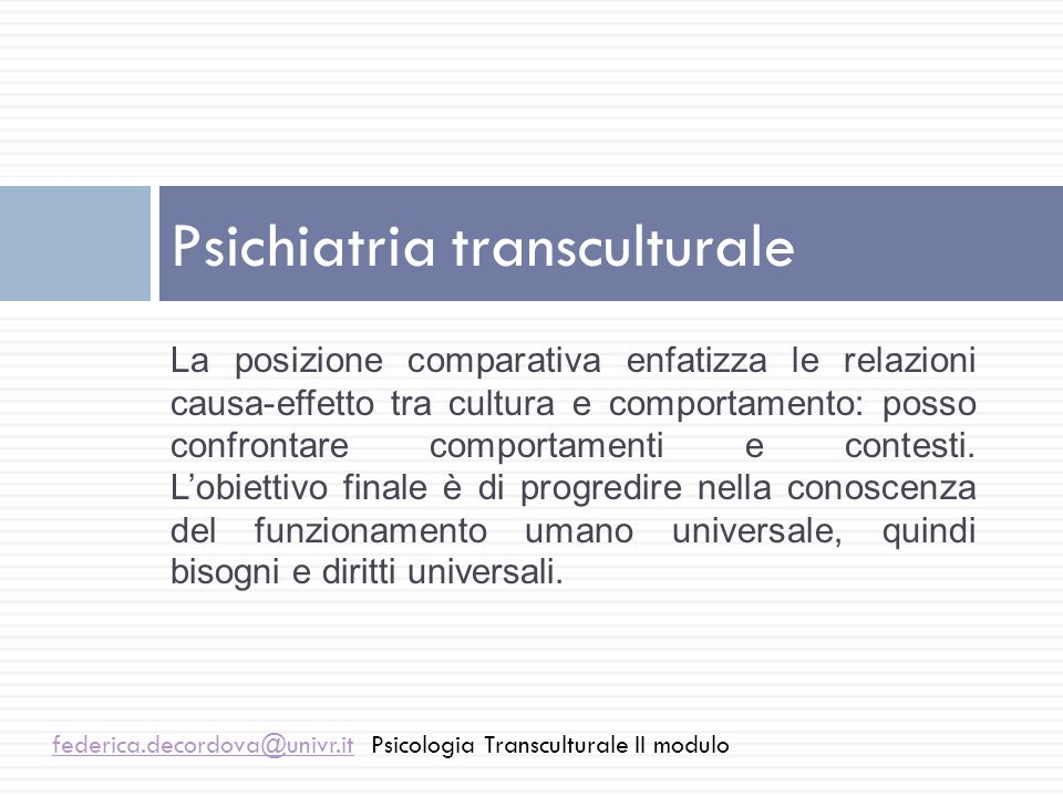 Psichiatria transculturale