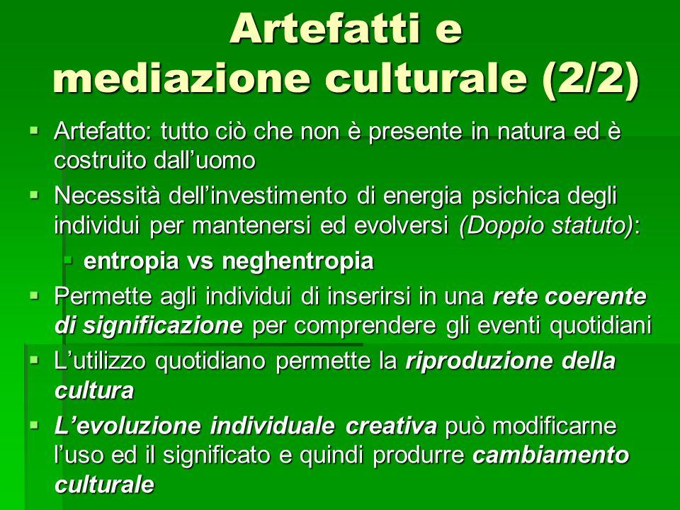 Artefatti e mediazione culturale (2/2)