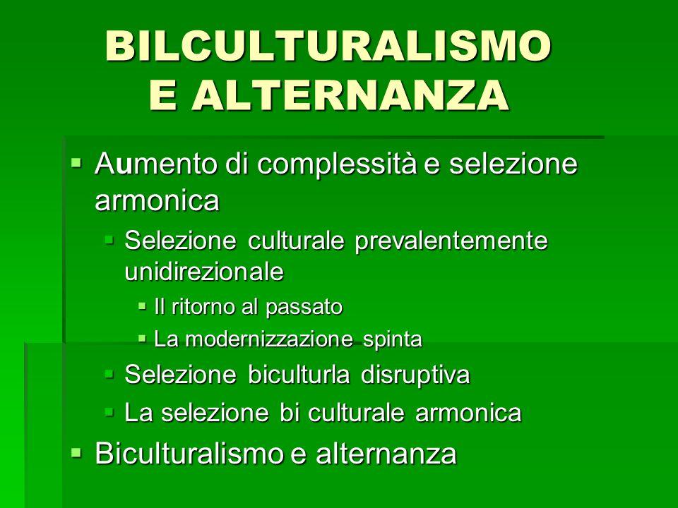 BILCULTURALISMO E ALTERNANZA