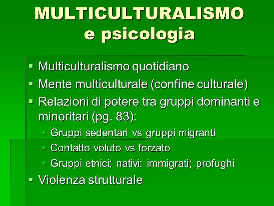 MULTICULTURALISMO e psicologia