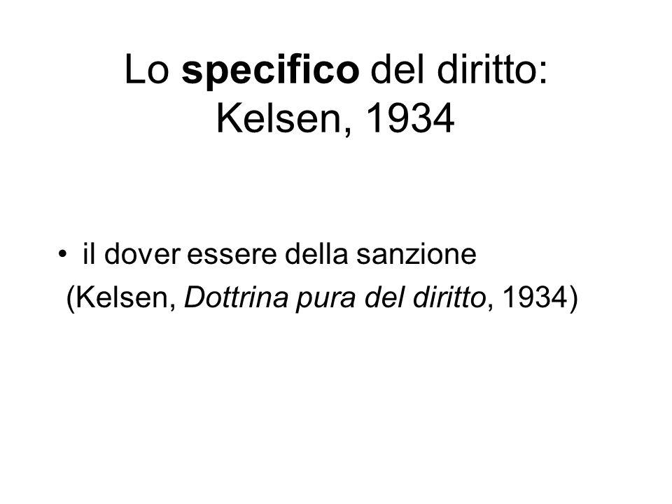 Lo specifico del diritto: Kelsen, 1934