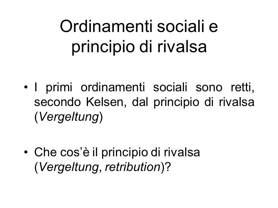 Ordinamenti sociali e principio di rivalsa
