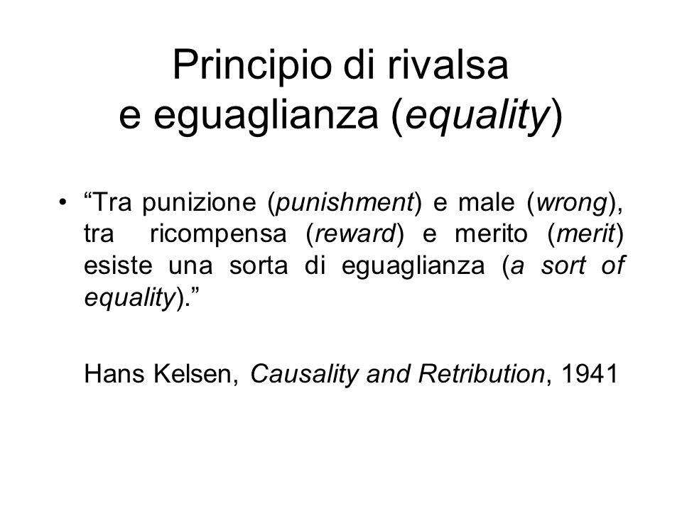 Principio di rivalsa e eguaglianza (equality)