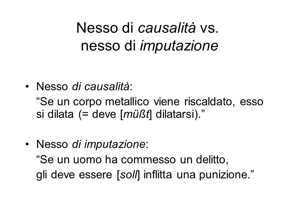 Nesso di causalità vs. nesso di imputazione