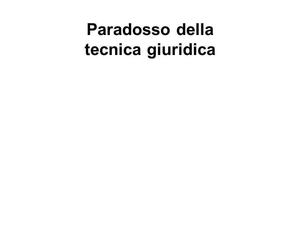 Paradosso della tecnica giuridica