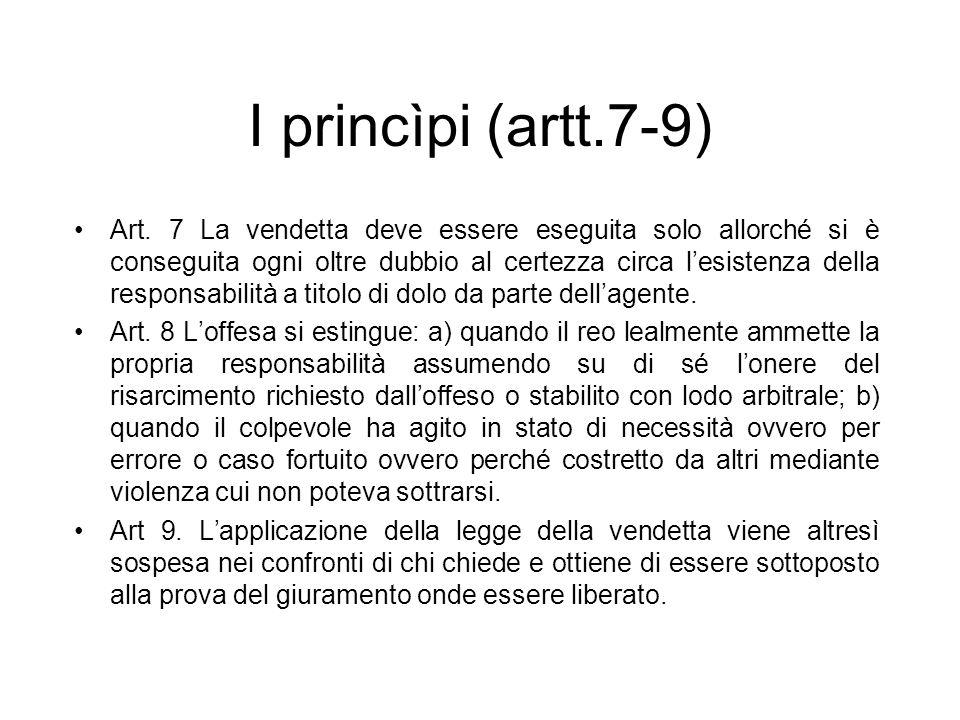 I princìpi (artt.7-9)
