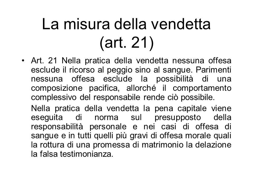 La misura della vendetta (art. 21)