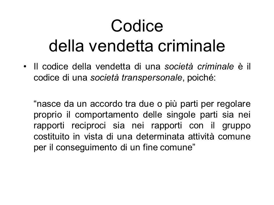 Codice della vendetta criminale
