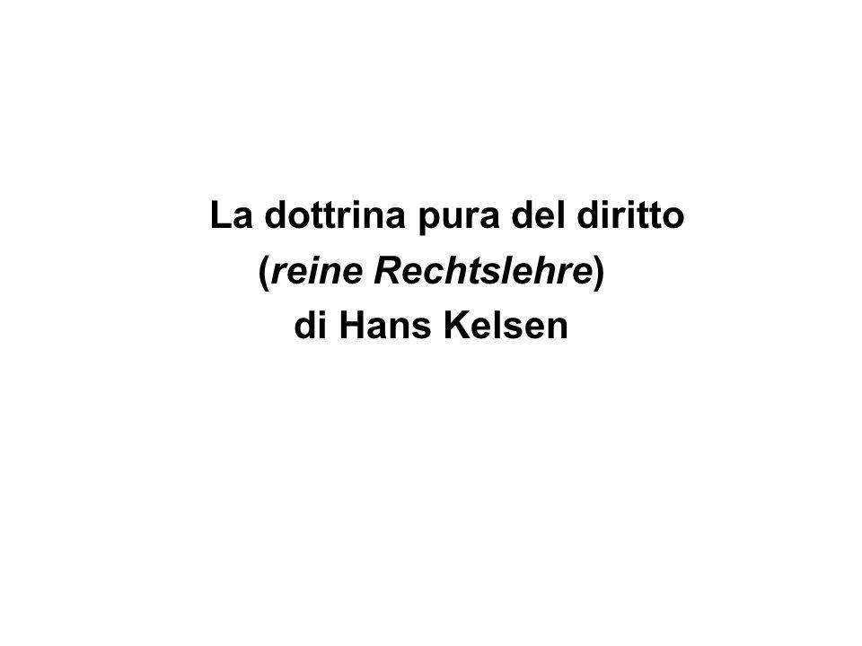 La dottrina pura del diritto (reine Rechtslehre) di Hans Kelsen