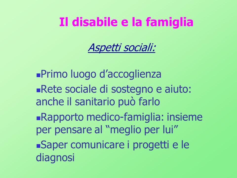 Il disabile e la famiglia