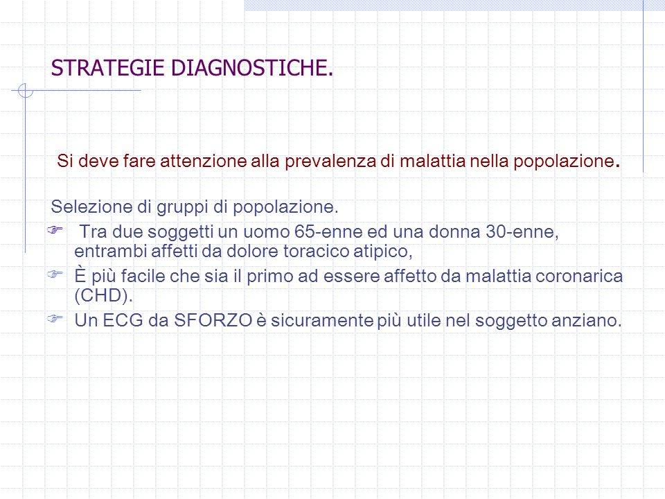STRATEGIE DIAGNOSTICHE.