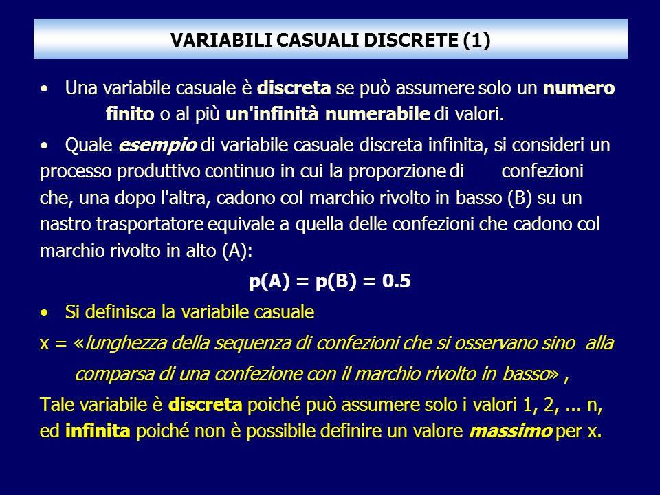 VARIABILI CASUALI DISCRETE (1)