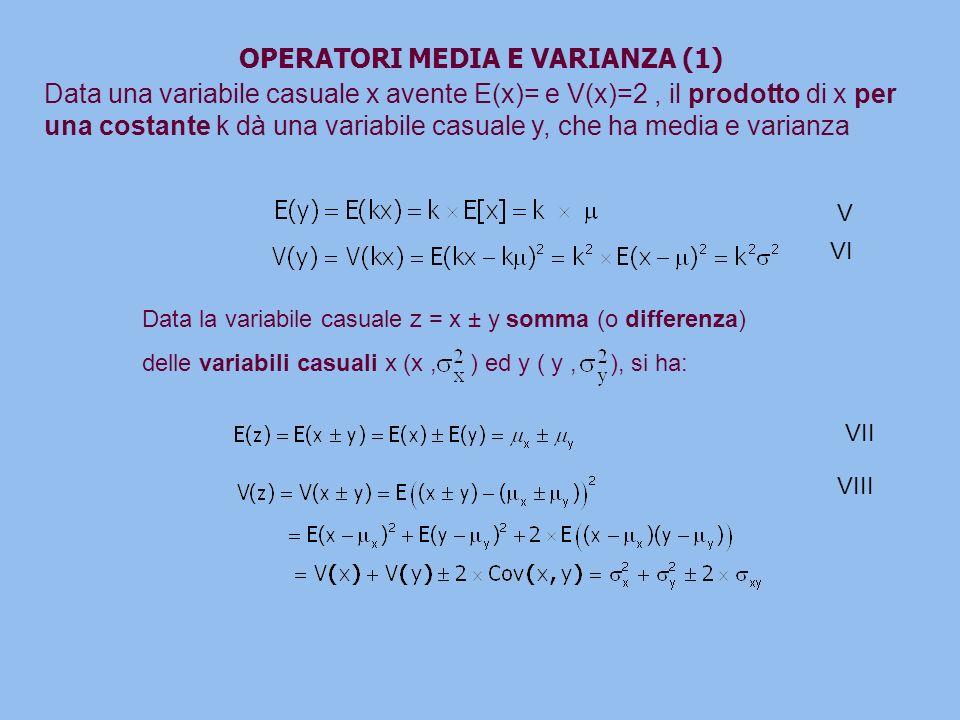 OPERATORI MEDIA E VARIANZA (1)