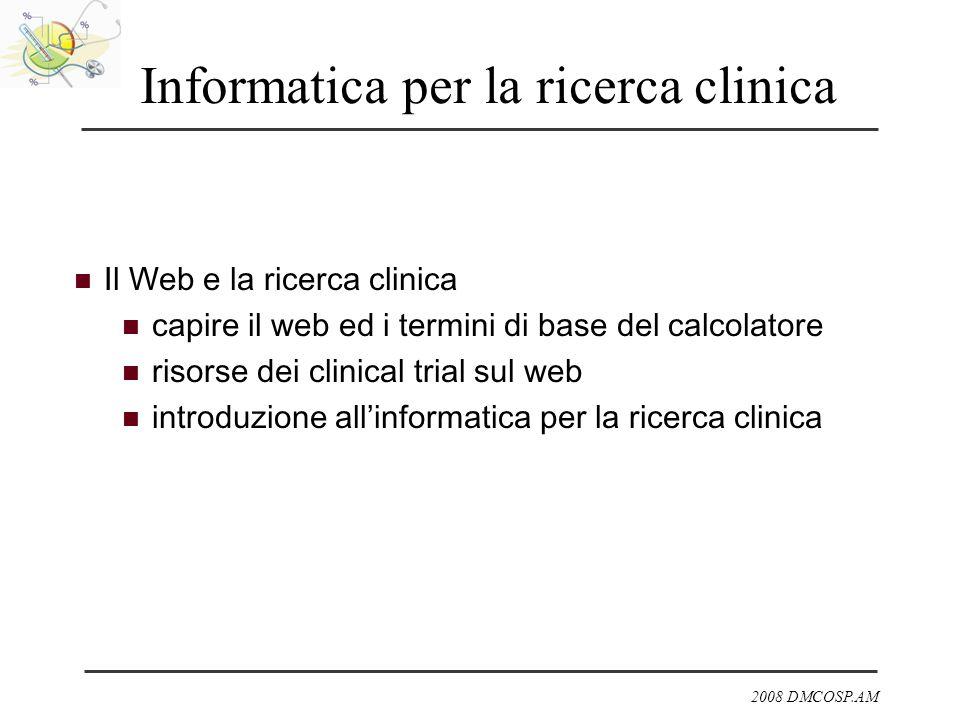 Informatica per la ricerca clinica