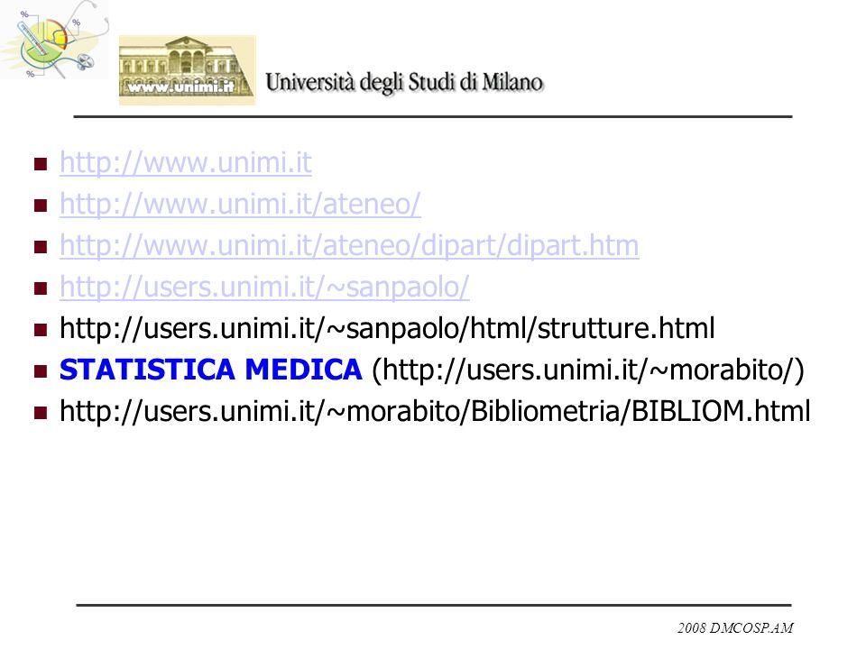 http://www.unimi.ithttp://www.unimi.it/ateneo/ http://www.unimi.it/ateneo/dipart/dipart.htm. http://users.unimi.it/~sanpaolo/