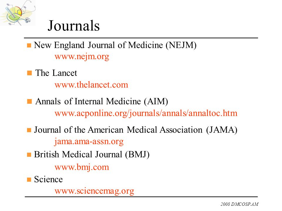 Journals The Lancet Annals of Internal Medicine (AIM)