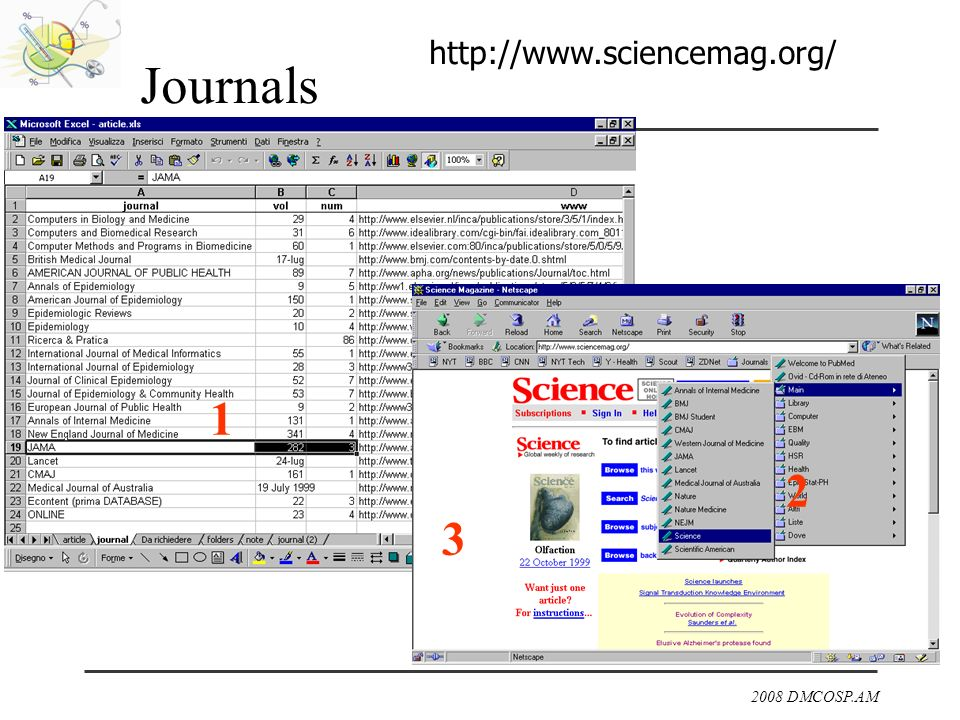Journals http://www.sciencemag.org/ 1 2 3