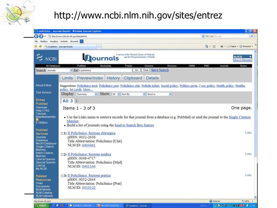 http://www.ncbi.nlm.nih.gov/sites/entrez