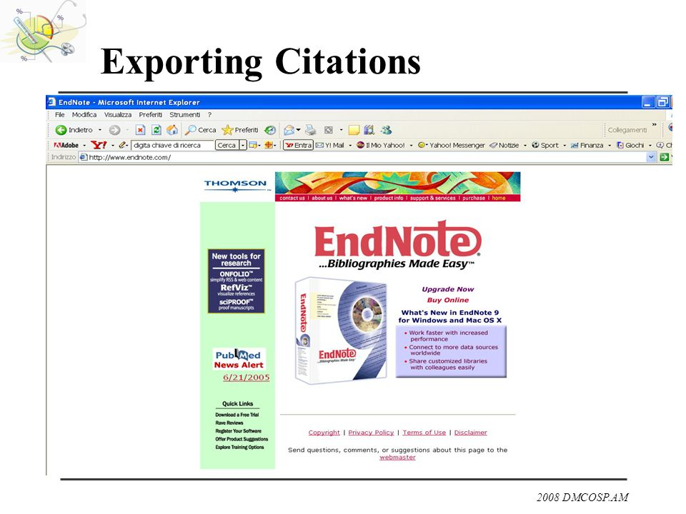 Exporting Citations