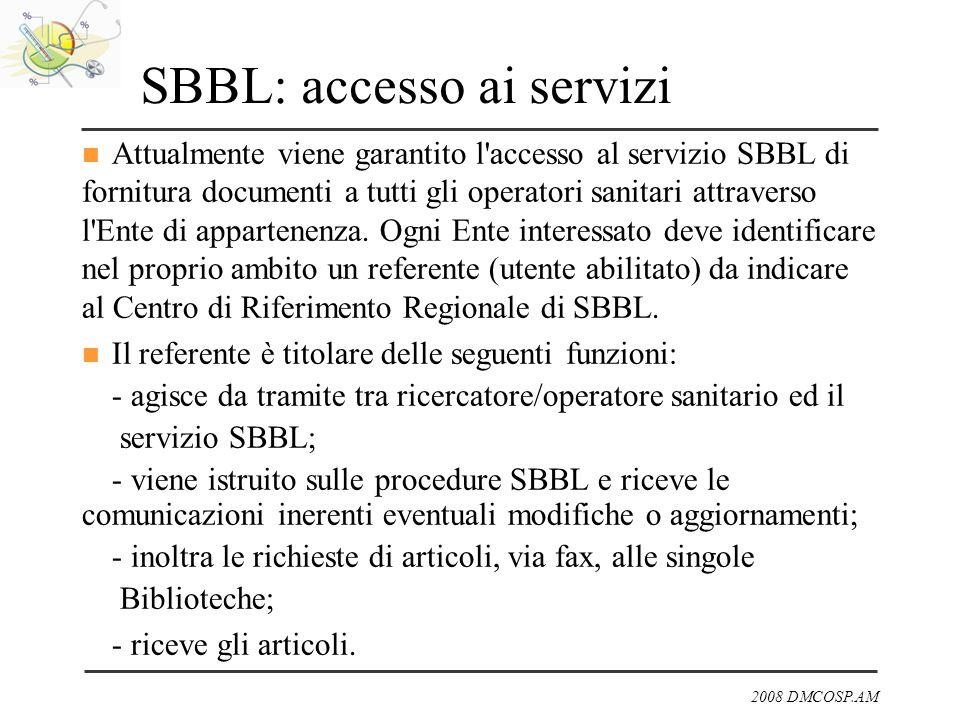 SBBL: accesso ai servizi