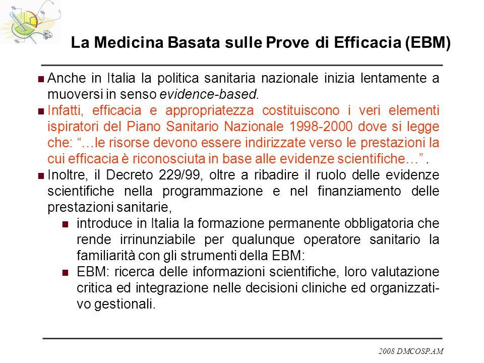 La Medicina Basata sulle Prove di Efficacia (EBM)