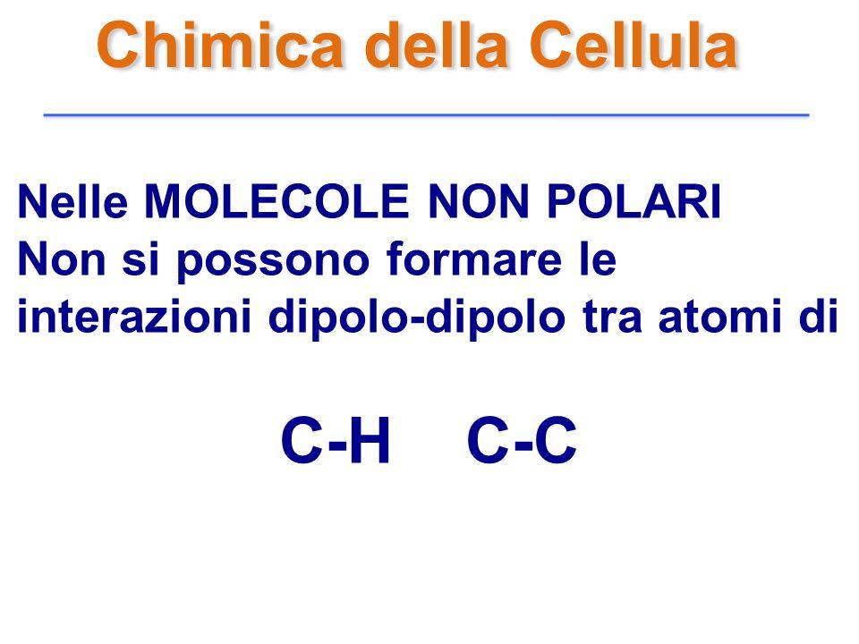 Chimica della Cellula C-H C-C Nelle MOLECOLE NON POLARI