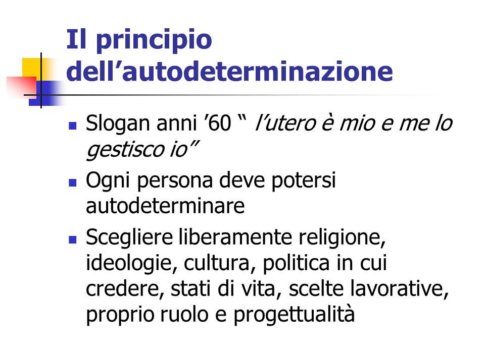 Il principio dell'autodeterminazione