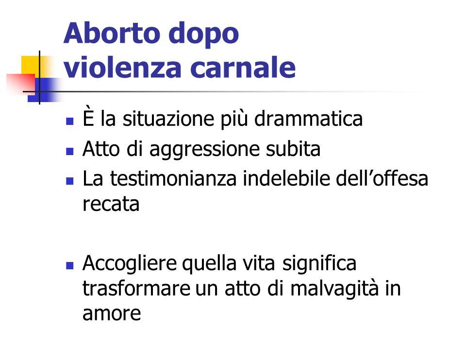 Aborto dopo violenza carnale