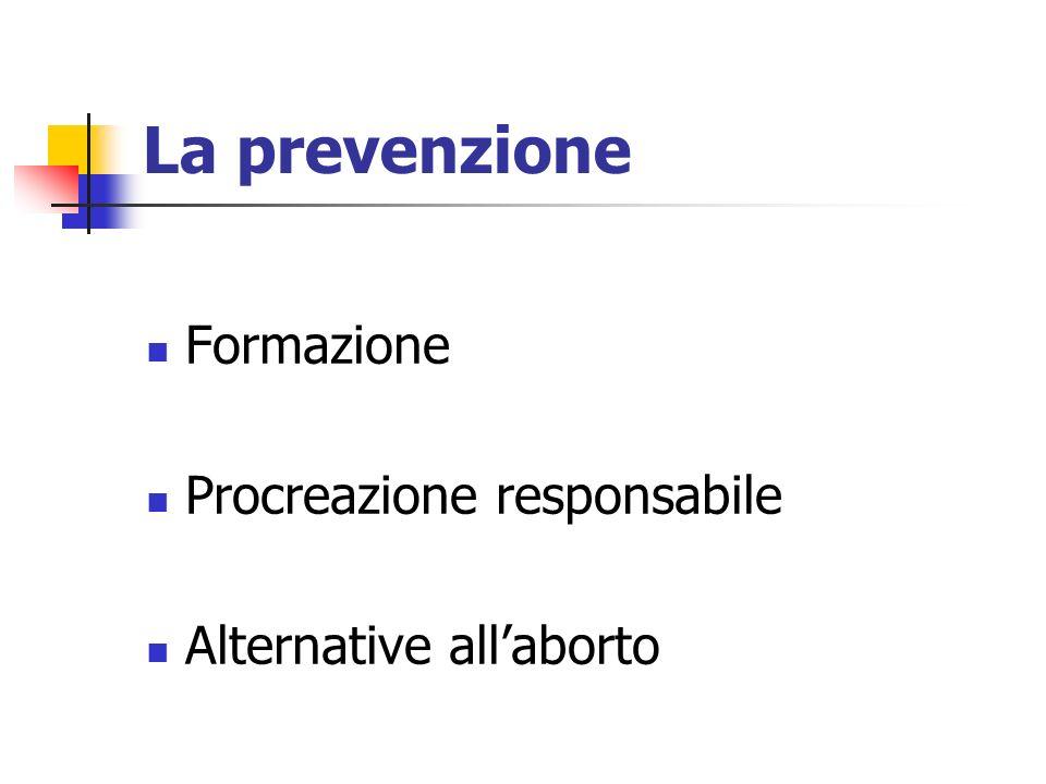 La prevenzione Formazione Procreazione responsabile