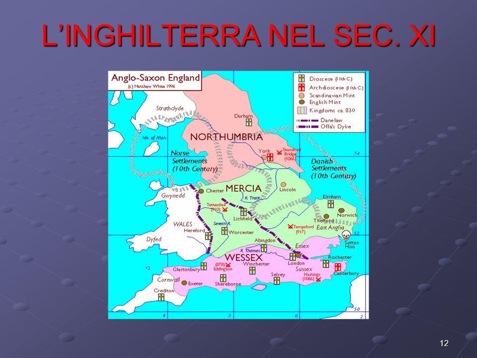 L'INGHILTERRA NEL SEC. XI
