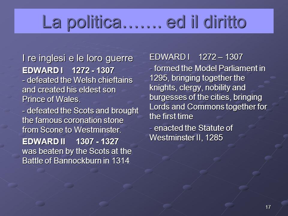 La politica……. ed il diritto