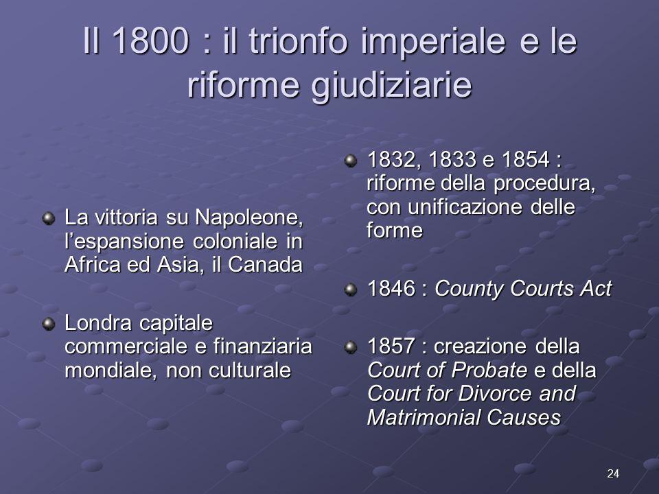Il 1800 : il trionfo imperiale e le riforme giudiziarie