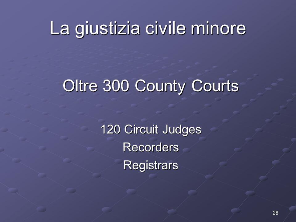 La giustizia civile minore