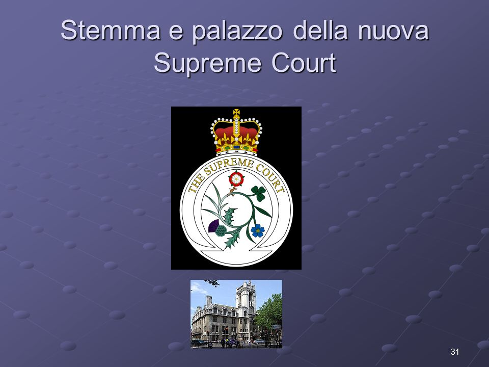 Stemma e palazzo della nuova Supreme Court