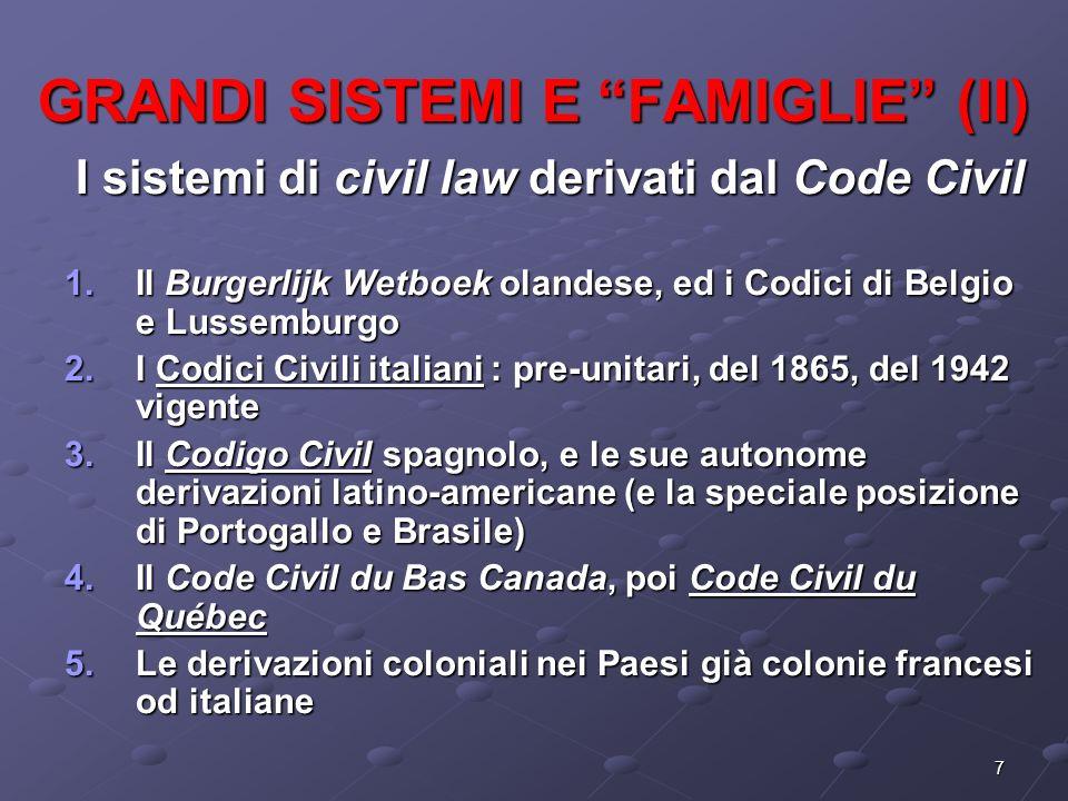 GRANDI SISTEMI E FAMIGLIE (II)