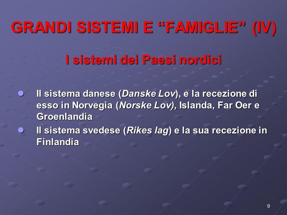 GRANDI SISTEMI E FAMIGLIE (IV)