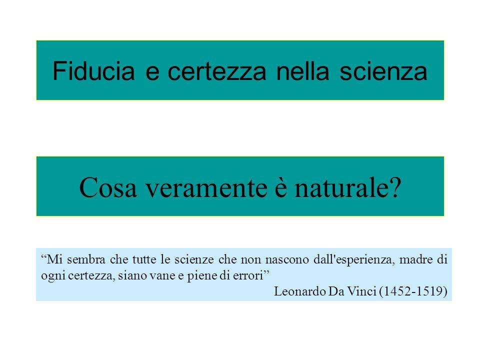 Fiducia e certezza nella scienza