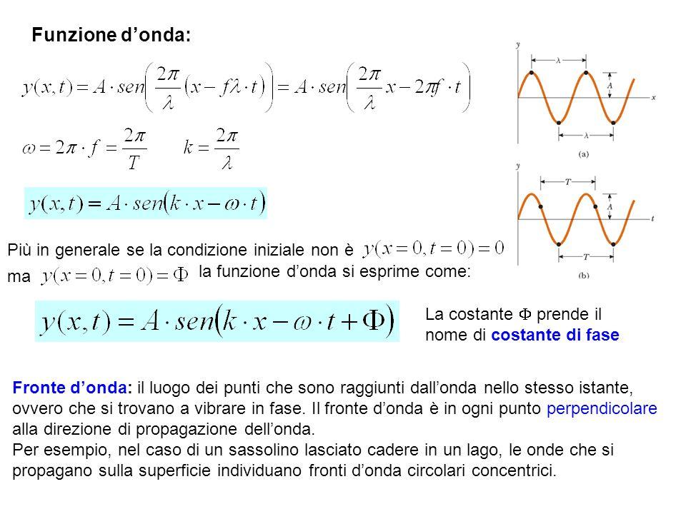 Funzione d'onda: Più in generale se la condizione iniziale non è
