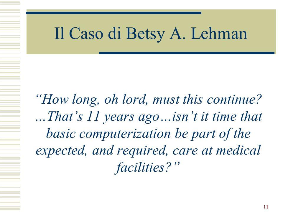 Il Caso di Betsy A. Lehman