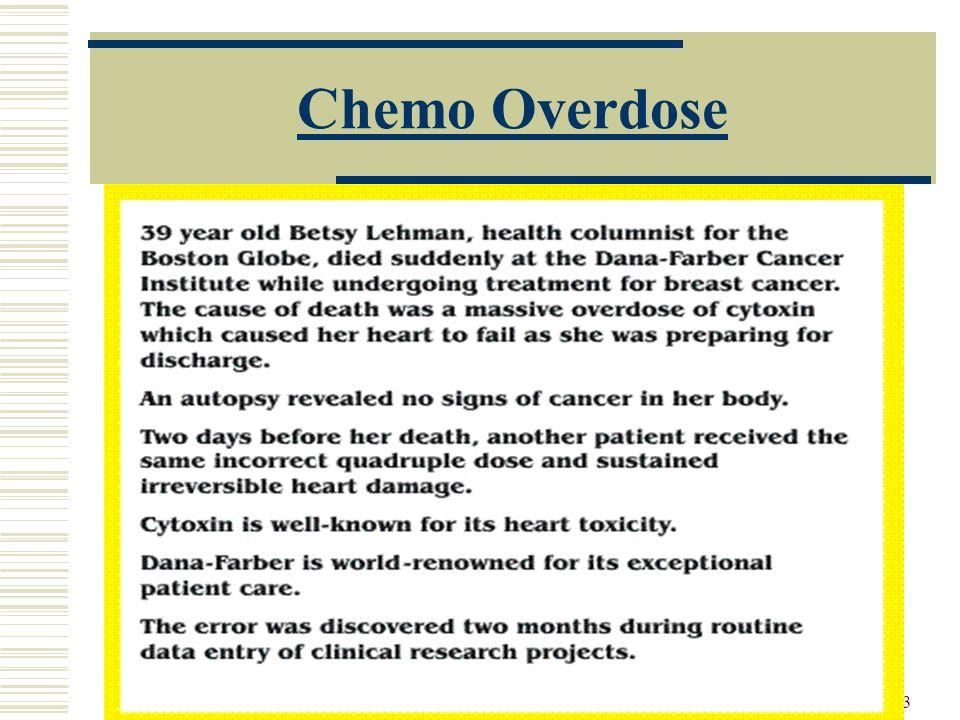 Chemo Overdose