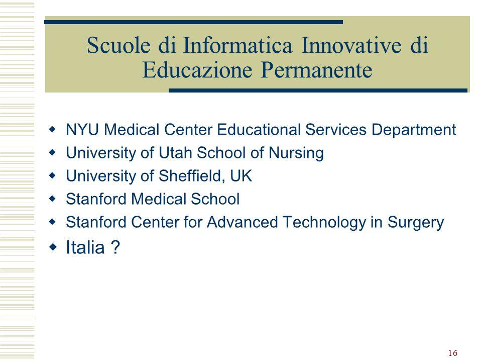 Scuole di Informatica Innovative di Educazione Permanente